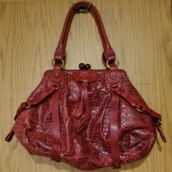 dc9853d1348c ⚠️sale⚠️Lockheart Croco Red Leather Bag